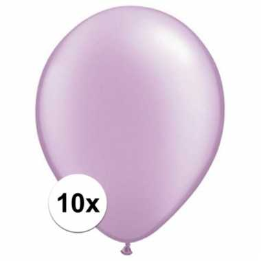 Qualatex parel lavendel ballonnen 10 stuks