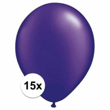 Qualatex parel paars ballonnen 15 stuks
