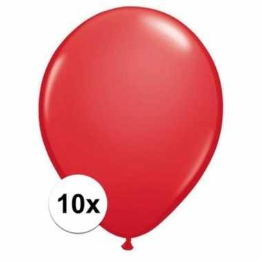 Qualatex rode ballonnen 10 stuks