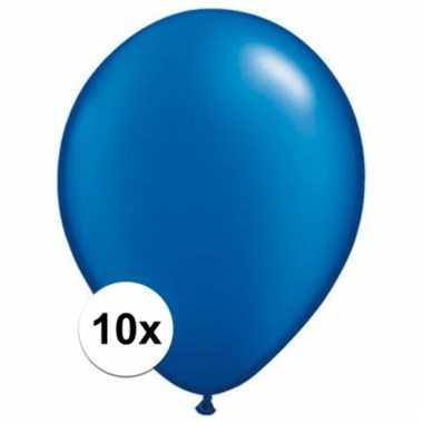 Qualatex sapphire blauwe ballonnen 10 stuks