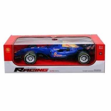 Racing speelauto blauw met licht en geluid 32 cm