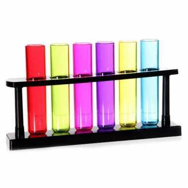 Reageerbuisjes shotglas 6 stuks