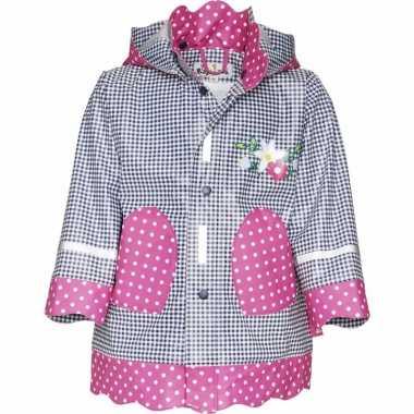 Regenjas voor meisjes ruit/stip