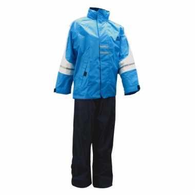 Regenpak azur blauw voor kinderen