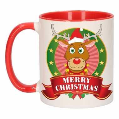 Rendier rudolf melk mok / beker voor kerst 300 ml