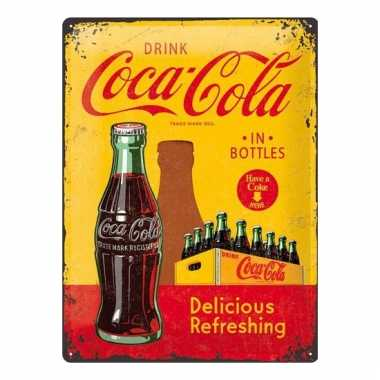 Retro muurplaatje drink coca cola 30 x 40 cm