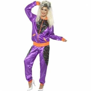 Retro trainingspak kostuum paars