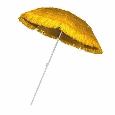 Rieten hawaii parasols geel
