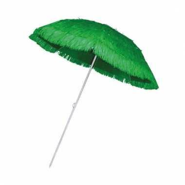 Rieten hawaii parasols groen