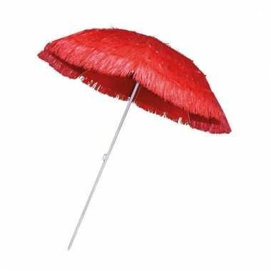 Rieten hawaii parasols rood