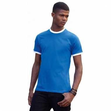 Ringer t-shirt met contrast kleuren