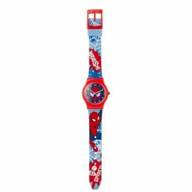 Rode analoge spiderman horloges voor jongens/meisjes