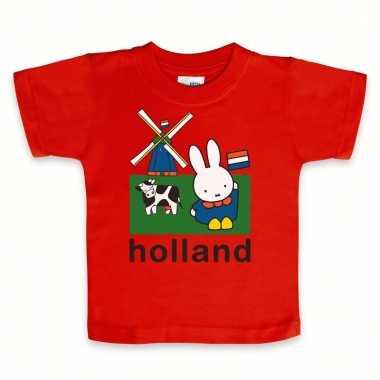 Rode baby t-shirtje nijntje holland