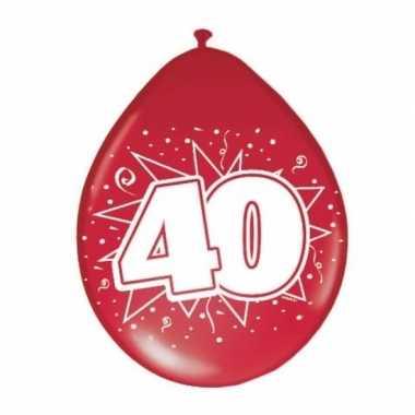 Rode ballonnen 40 jarig huwelijk