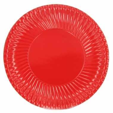 Rode barbecue borden 23 cm