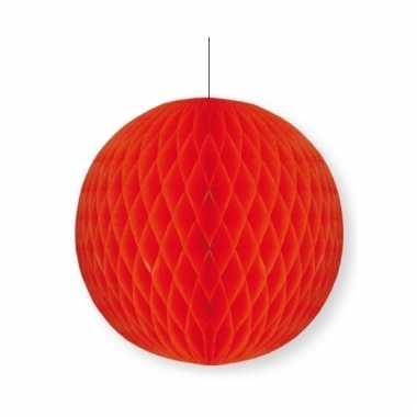 Rode decoratie bal 10 cm brandvertragend