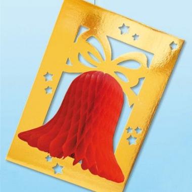 Rode decoratie kerskklok brandvertragend