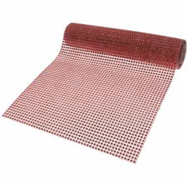 Rode diamantjes tafelloper 25 x 200 cm