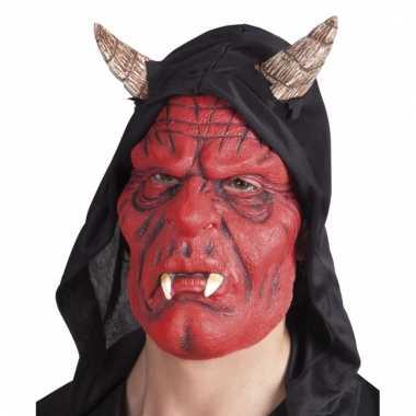 Rode duivel masker diablo voor volwassenen