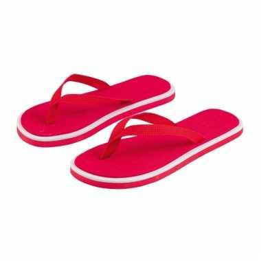 Rode flip flop slippers voor heren