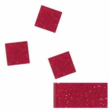 Rode glitter mozaiek steentjes in doosje