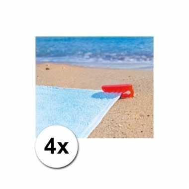 Rode handdoek klemmen 4 x