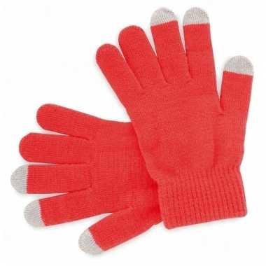 Rode handschoenen voor je mobiel