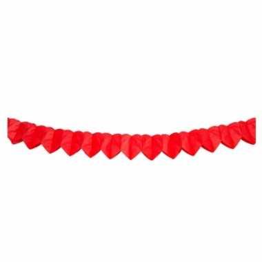 Rode hartjes slinger 2 meter