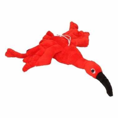 Rode ibis knuffel 34 cm