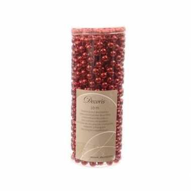 Rode kerstboom versiering kralen slinger