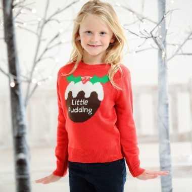Rode kerstmis trui met cupcake voor kids