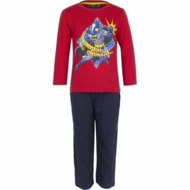 Rode kinder pyjama van batman