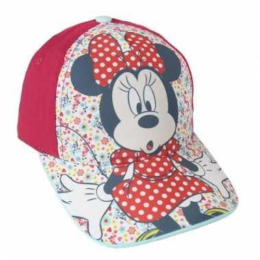 Rode kinderpet van minnie mouse