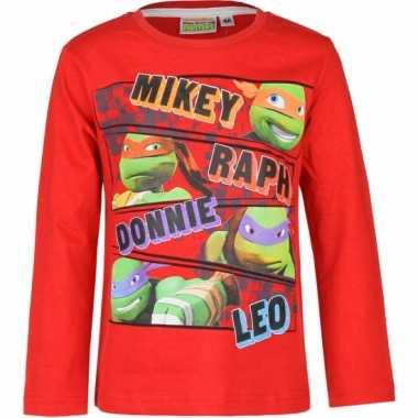Rode ninja turtles shirt voor kids