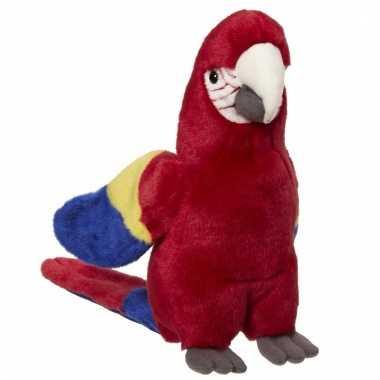 Rode papegaaien knuffels 21 cm