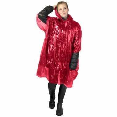 Rode regen ponchos voor volwassenen