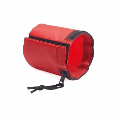Rode sportband van polyester
