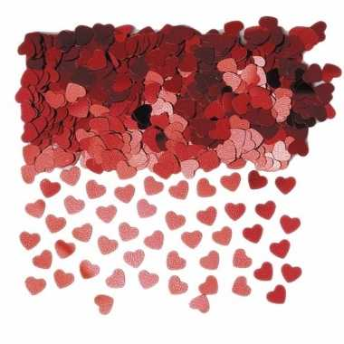 Rode valentijn hartjes confetti 10 zakjes