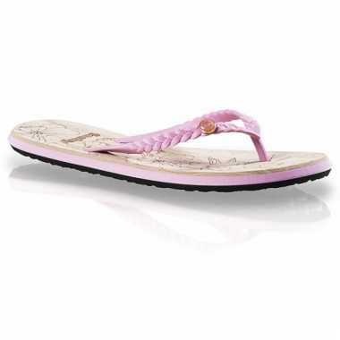 Rode zomer slippers voor dames