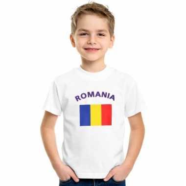 Roemeens vlaggen t-shirt voor kinderen