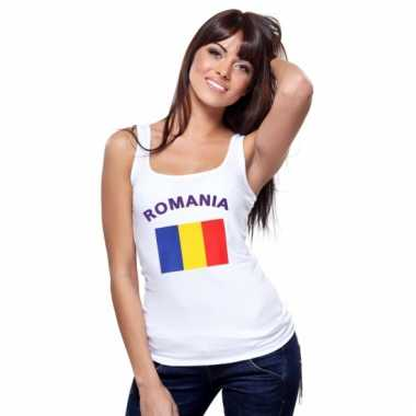 Roemeense vlag tanktop/ singlet voor dames