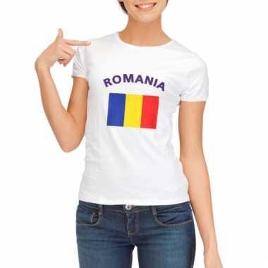Roemeense vlaggen t-shirt voor dames