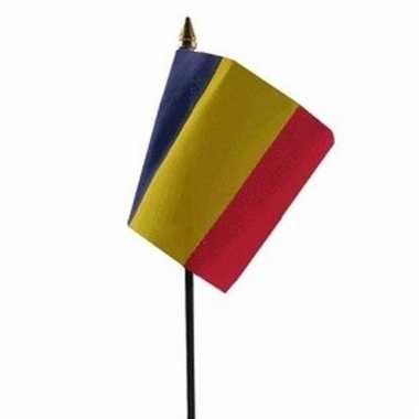 Roemenie luxe zwaaivlaggetje polyester