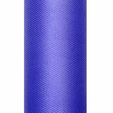 Rolletje tule stof blauw 50 cm breed