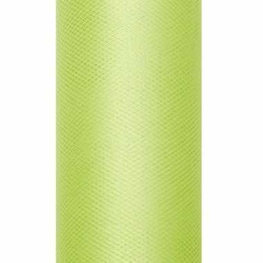 Rolletje tule stof licht groen 15 cm breed