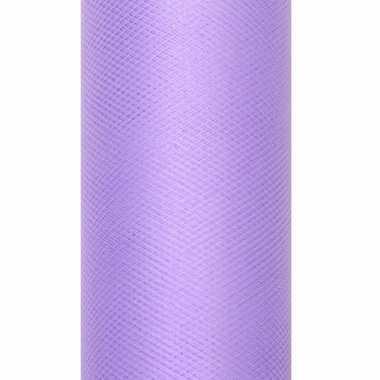 Rolletje tule stof paars 15 cm breed