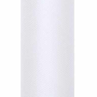 Rolletje tule stof wit 15 cm breed