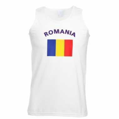 Romania vlaggen tanktop/ t-shirt