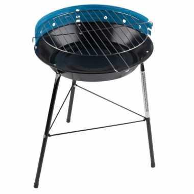 Ronde barbecue in de kleur blauw