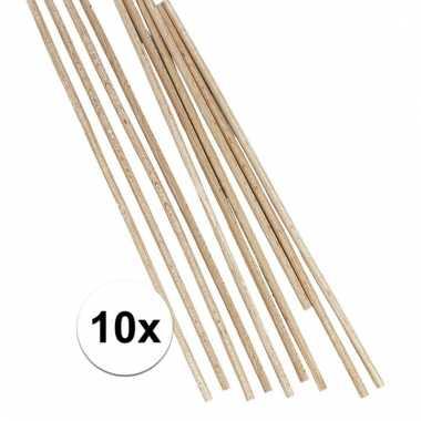 Ronde houten staafjes 25 cm